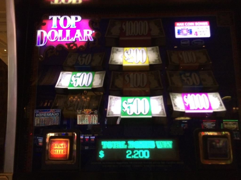 ラスベガス スロットマシン Top Dollar ボーナス