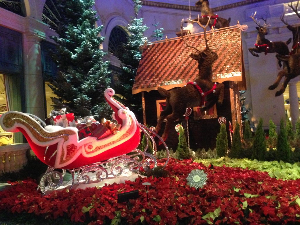 ラスベガス ベラージオ庭園 クリスマス