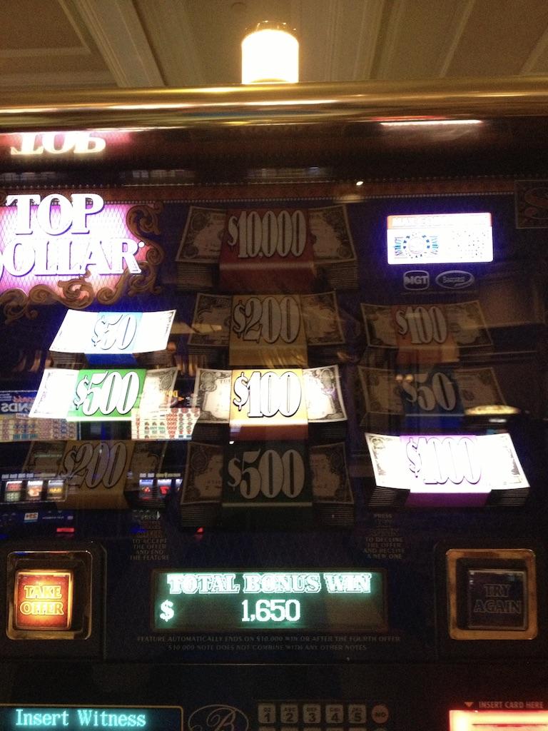 Top Dollar jackpot1650$